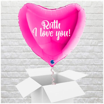 6403 Giant 3ft Personalised Pink Valentine Heart