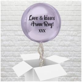 6406 Personalised Lilac Valentine Globe