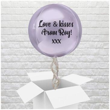 6406 Personalised Lilac Valentine Globe