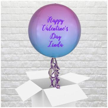 6405 Personalised Pink 'n Blue Valentine Globe