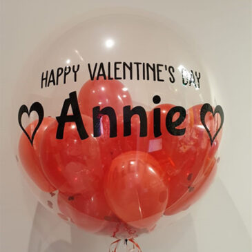 6401 – Personalised Bubble with Mini Balloons