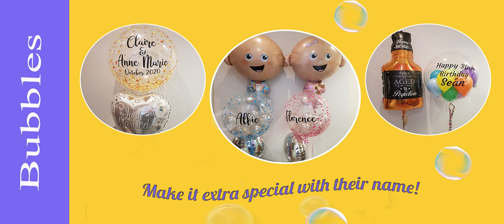 Personalised Bubbles banner 2048×910