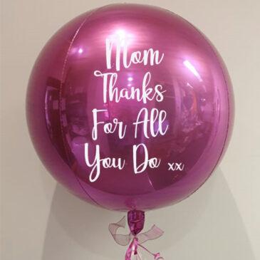 7055 Pink Orbz Balloon