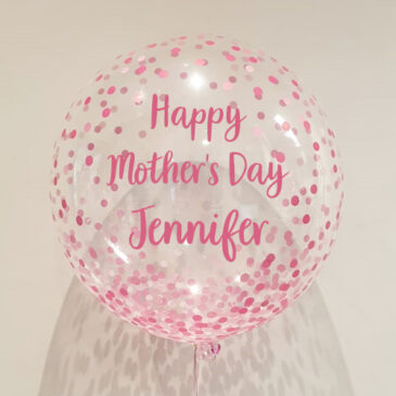7053 Pink Confetti Bubble