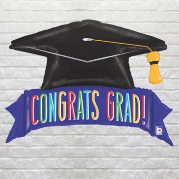 Congrats Grad Banner Balloon