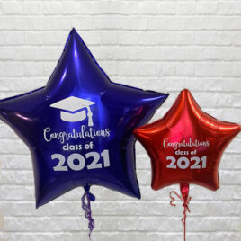 Personalised Large Star Shaped Balloon – Grad