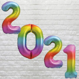 Rainbow Number Balloons