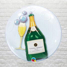 Champagne Bottle Bubble