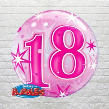 Pink 18th Birthday Bubble