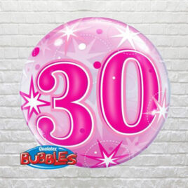 Pink 30th Birthday Bubble
