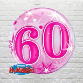 Pink 60th Birthday Bubble