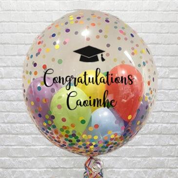 Personalised Multi Confetti Mini Balloons Bubble – Grad